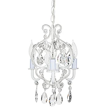 Bronze chandelier lighting with crystals wrought iron ceiling light tiffany collection mini crystal swag chandelier lighting with 3 lights nursery kids children aloadofball Images