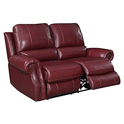 Picket House Furnishings Williams Power Reclining Loveseat in Wine
