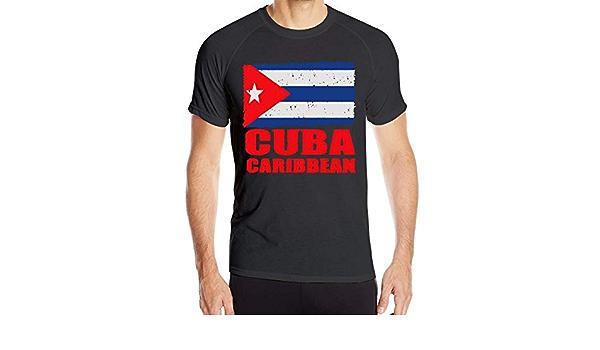 yting Bandera de Cuba Cubana Bandera Camisetas de Manga Corta ...