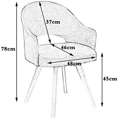 Chaise rembourrée de Tissu Nordique de Chaise de Salle à Manger en Bois avec des accoudoirs et des Jambes en Bois Robustes, chaises de réception pour la Salle à Manger/Salon, Bleu