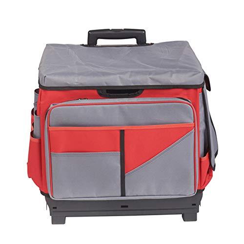 ECR4Kids MemoryStor Universal Rolling Cart and Organizer Bag Set, Red