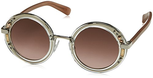 Jimmy Choo GEM/S 16REO (Gun - Transparent Crystal with Brown Gradient - Jimmy Crystals Sunglasses Choo With