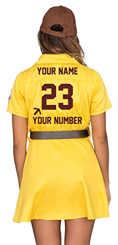 Racine Belles AAGPBL Baseball Womens Costume Dress (Personalized Large/X-Large) -