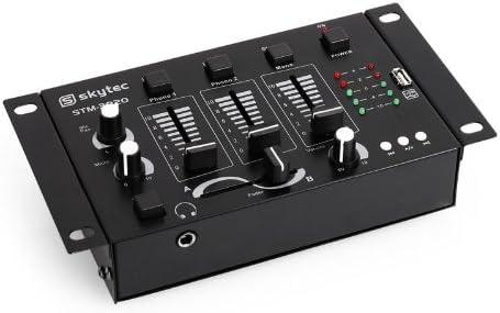 Mesa de Mezclas Skytec STM-3020 3/2 Canales USB MP3 Mic: Amazon.es ...