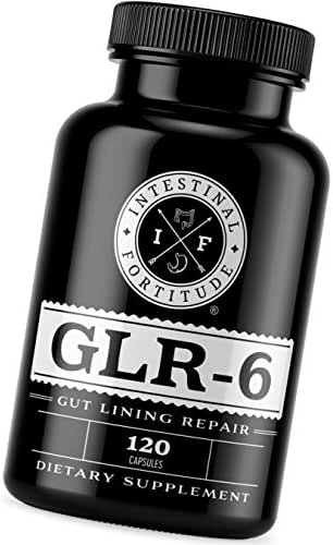 Gut Lining Repair Supplement GLR-6 by Intestinal Fortitude with L Glutamine Slippery Elm Marshmallow Root DGL Licorice Fenugreek N Acetyl D Glucosamine Gut Health Leaky Gut Repair IBD IBS