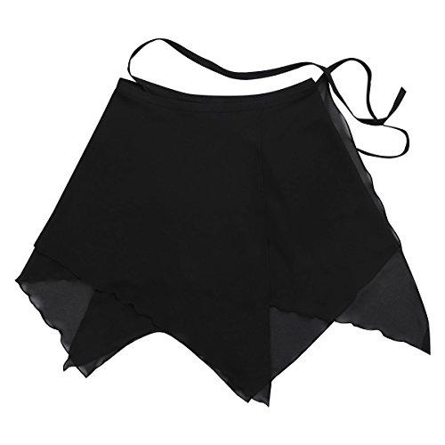 Mousseline Mini Soire Gymnastique Danse Robe Confortable Dancewear iixpin Noir de Tutu Femme de Patineuse Asymtrique Tulle Ballet en Jupe Noeud ZafqXUw