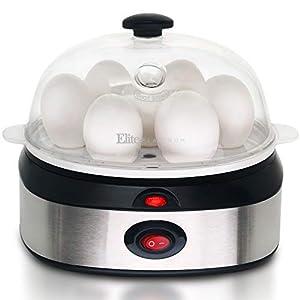 Elite Gourmet EGC-207 Easy Electric 7 Egg Capacity Cooker Omelet Maker, Scrambled, Soft, Medium, Hard Boiled with Auto…