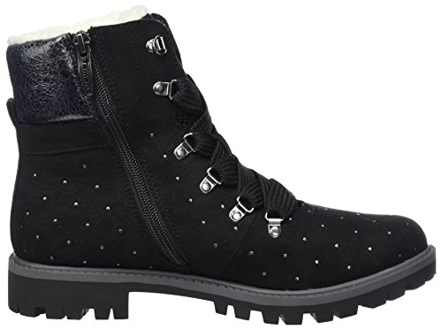 Damen Tamaris Combat Schwarz Black Boots 26721 dBrvqB