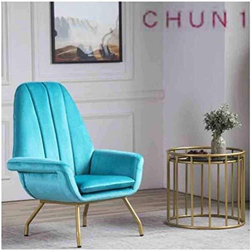 Fåtölj, badkar enstaka stol med massiva metallben för vardagsrum sovrum mottagning 111 1012 (storlek: 1)