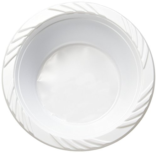 White 12 oz. Plastic Bowls - 100 Count