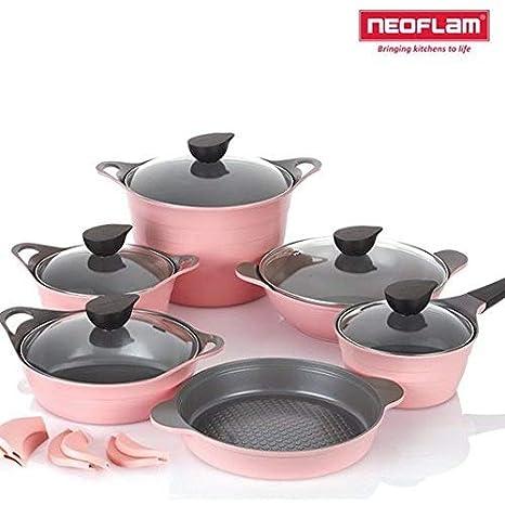 Neoflam EELA Cast aluminum 6 pcs Chefs Stockpot & Wok & Multigrill ...