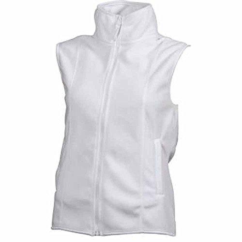 JAMES manche JN048 amp;NICHOLSON gilet polaire Blanc FEMME bodywarmer veste sans r4WrwfHxq