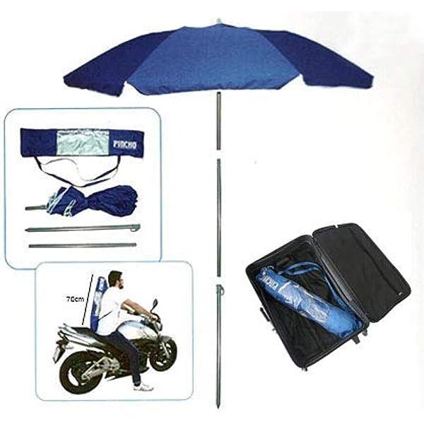 Pincho Sombrilla Mochila Plegable 180CM Ideal para Moto y ...