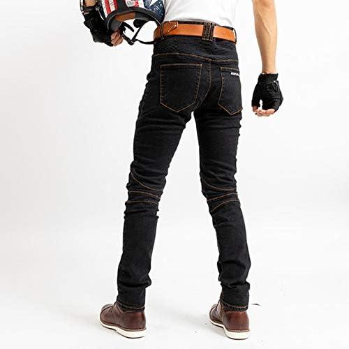 Geling Herren Motorradhose Jeans Motorrad Hose Motorradrüstung Schutzauskleidung Motorcycle Biker Pants Mit Protektoren Schwarz L Auto