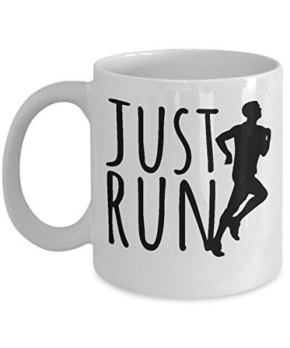 Just Run Long Distance Running Coffee & Tea Gift Mug for a Marathon Runner