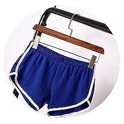 New Summer Shorts Women Casual Shorts Workout Waistband Skinny Short Blue Xl
