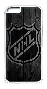 iPhone 6 Plus Case Cover - Crystal Clear Transparent Plastic Bumper Case for iPhone 6 Plus 5.5inch With Cool Logo Design Photo Wood Nhl