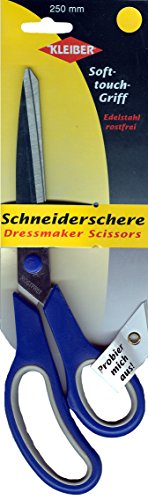 Kleiber 250mm Soft Grip Bent Dressmakers Scissors (10 inch)