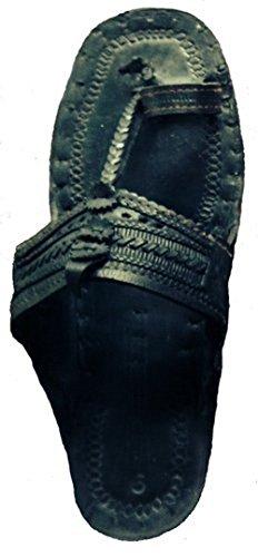 Sandals Jesus of Black Beadscape A Bit Buffalo Water Leather Vu Hippie ~ Deja 100 Indian qSvPASFw
