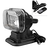 Timmart 75W HID Xenon 6000K Rotating Wireless Remote Control Search Light Spot Work Light