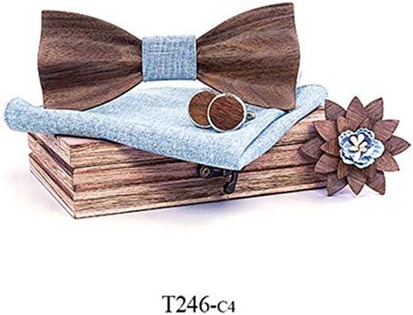 Pajarita Pre-Atada Ajustable Corbata de lazo de madera 3D Corbata ...
