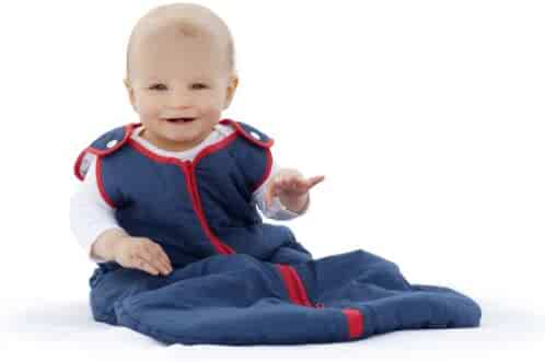 Baby Deedee Sleep Nest Baby Sleeping Bag, Navy Red, Small  (0-6 Months)