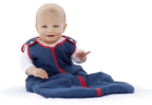 Baby deedee Sleep Nest Brand Sleeping Sack, Winter Wearable Blanket, Navy Red, Boys & Girls, Medium