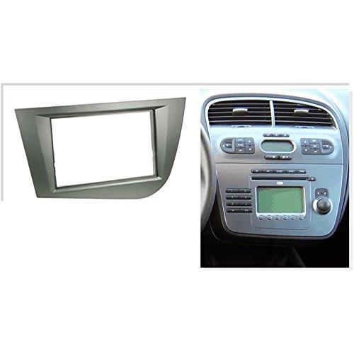 KIT Montage autoradio Fa/çade Cadre de Radio 2 DIN Seat Altea//Altea XL//Toledo Gris