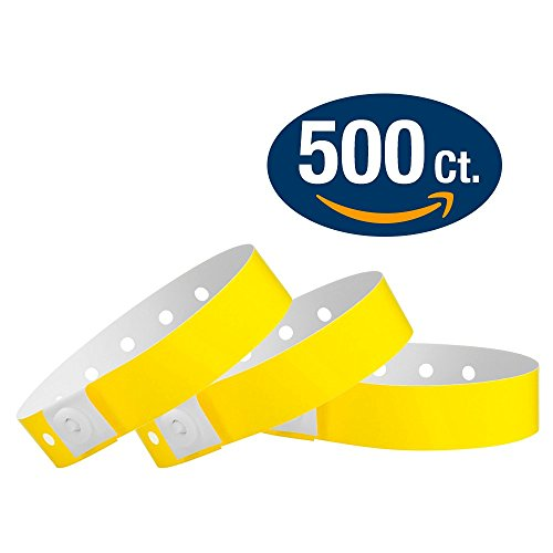 Pantone Yellow - Wristco Plastic Wristbands - 500 Ct.