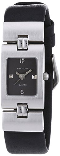 Shaon Womens Black Leather Watch 32 1118 44