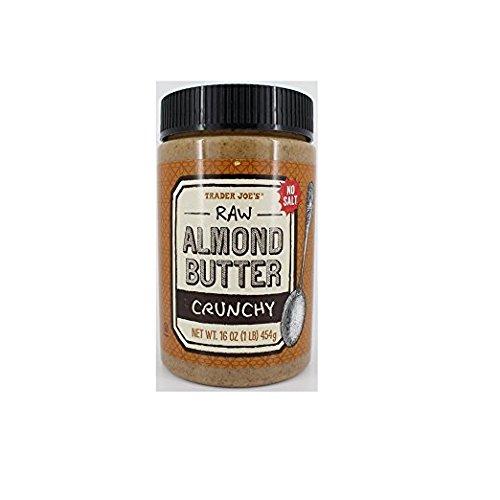 Trader Joe's Crunchy Raw Almond Butter Salt Free - 16 oz