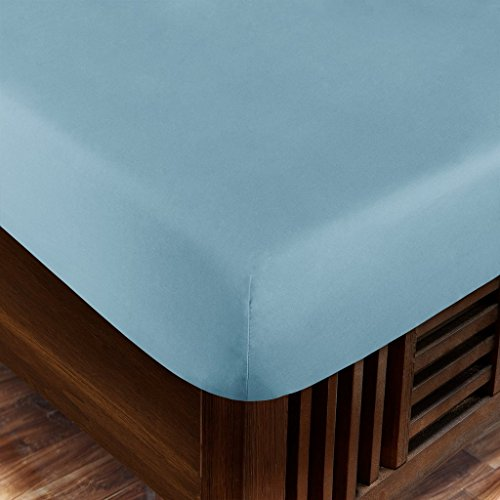Zen Home Luxury Fitted Sheet (2-Pack) - 1500 Series Luxury Brushed Microfiber w/ Bamboo Blend Treatment - Eco-friendly, Hypoallergenic and Wrinkle Resistant - Cal King - Sky ()
