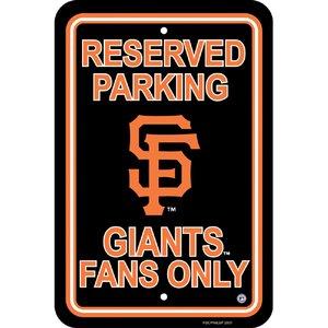 - MLB San Francisco Giants Plastic Parking Sign