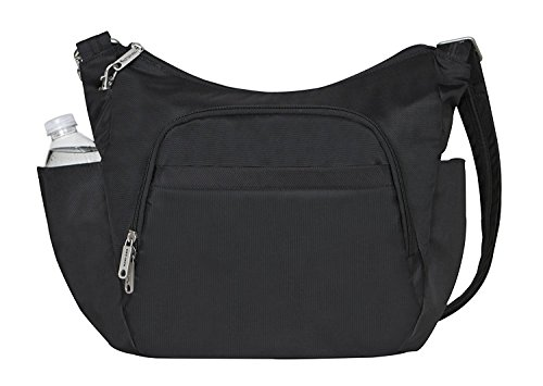 Travelon Anti-theft Classic Crossbody Bucket Bag, Black