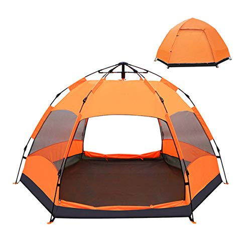 WYDML-Sports-Shelter-6-9-Person-Weather-Tent-Double-Layer-Large-Space-Pop-Up-Tent-for-Outdoor-Family-Camping-Hunting-Hiking-Adventure-Travel-Orange