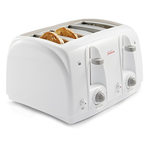 Sunbeam 4-Slice Toaster, White (003823-100-000)