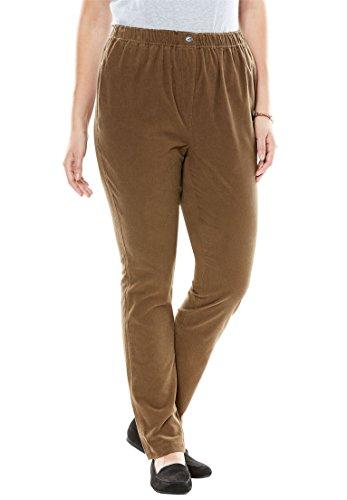 Plus Size Corduroy Pants - 1