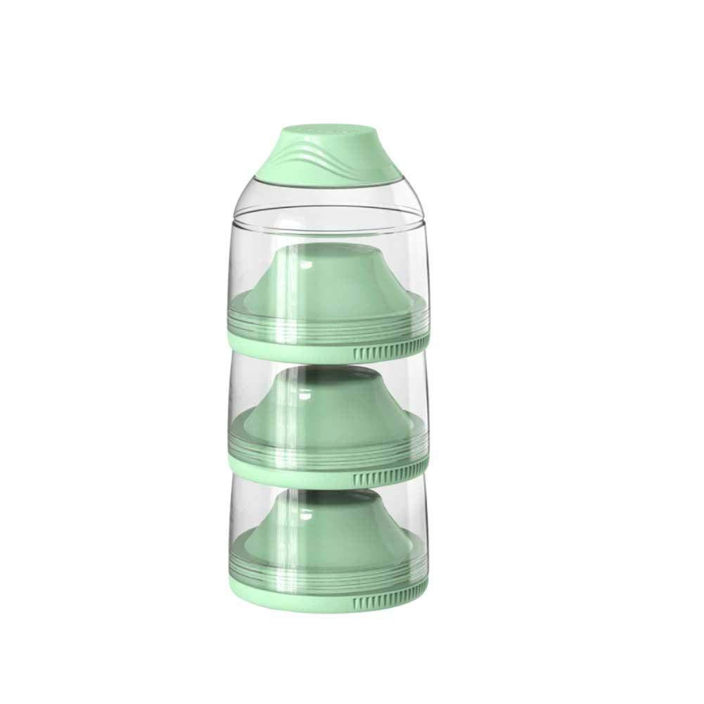 Portable D/étachable Luckyx Bo/îte De Lait en Poudre BPA Free Anti-Fuite R/ésistant /À La Chaleur Bo/îte De Rangement De Lait en Poudre De Grande Capacit/é pour B/éb/é 3 Couches pour Les Biscuits Fruits