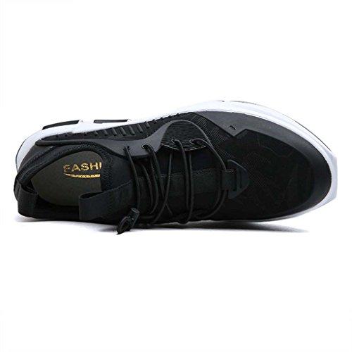 ZXCV Zapatos al aire libre Calzado deportivo confort hombres de coco transpirable zapatos de ocio zapatillas Negro y rojo