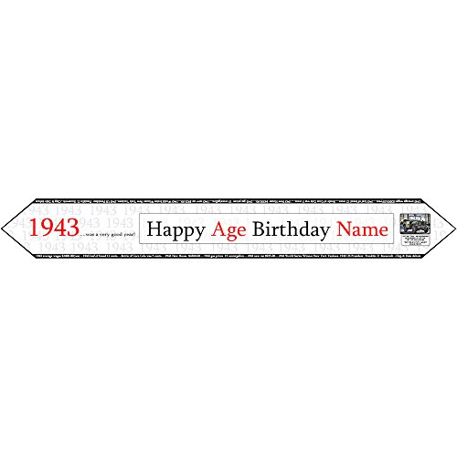 Partypro 1943 PERSONALIZED TABLE BANNER Customized