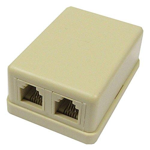 BeMatik - Caja de superficie de 2 RJ11 Cat.3