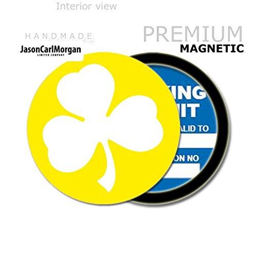 JCM Shamrock MOT License Tax Disc Permit Holders Yellow