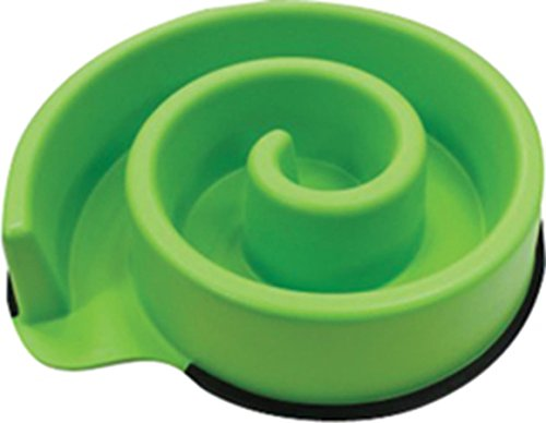 Slow Feeder Spiral Puzzle Pet Bowl for Dogs & Cats. Anti Bloat. Stop Gobbling. Reduce Indigestion, Non Skid Rubber Rimmed Bottom, Encourage Foraging, - Greedy Dog Dish | Animal Instincts by Spot