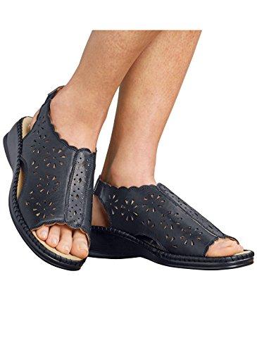 Carol Wright Gifts Open-toe Slingback Sandal Black