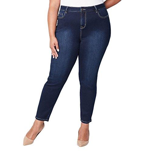 Avenue Women's Butter Denim Skinny Jean in Dark Wash, 16 Dark Wash