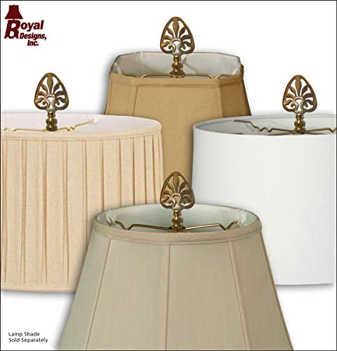 Royal Designs F-5063PB-2 Rising Sun Filigree Design Lamp Finial, Polished Brass, Set of 2 by Royal Designs, Inc (Image #5)