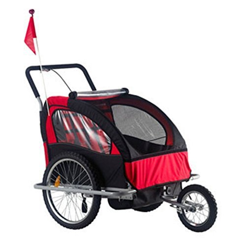 2 Child Bike Trailer Stroller - 9
