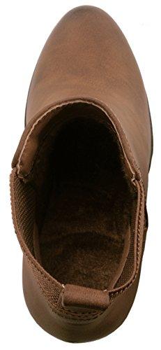 Blocco Stivaletti Plateau Ankle chunkyr Khaki Trendige ayan Tacco Boots Classic Elara Donna Sqw7xOnXfn