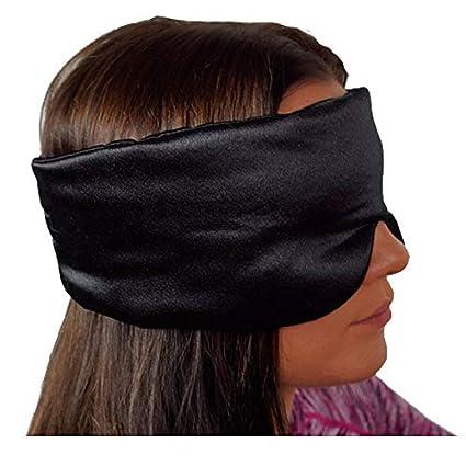 Máscara de seda de lujo para dormir, transpirable, para dormir, para hombre o