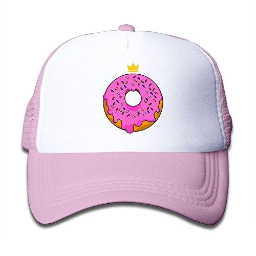 Elephant AN Pink Doughnut Mesh Baseball Cap Kid Boys Girls Adjustable Golf Trucker Hat ()